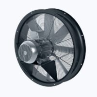 Axial ring fan with norm motor