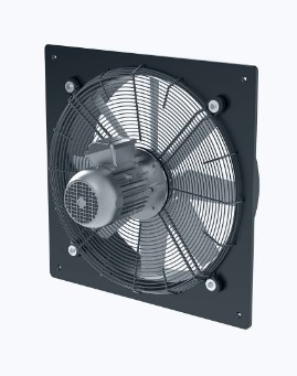 Axial wall fan with norm motor