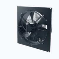 Axial wall fan with EC brushless motor