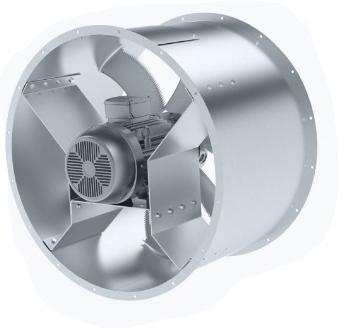 Axial fan for smoke exhaust