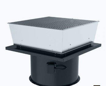 Axial ATEX roof fan vertical outlet