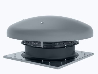 Axial ATEX roof fan horizontal outlet