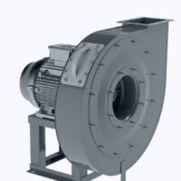 Centrifugal ATEX fan for high pressure with backward curved blades