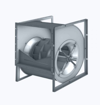 Centrifugal fan double inlet and backward curved blades