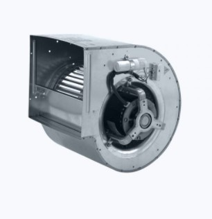 Centrifugal fan with external rotor motor and forward curved blades