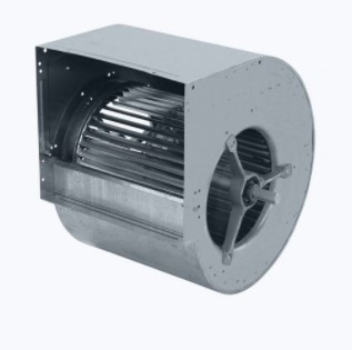 Centrifugal fan double inlet with forward curved blades