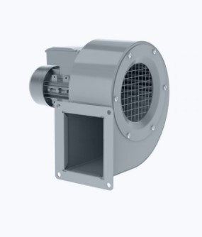 Centrifugal fan with norm motor and forward curved blades