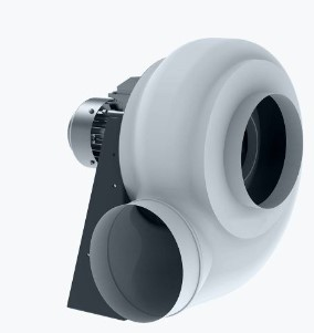 Plastic ATEX fan with backward curved blades