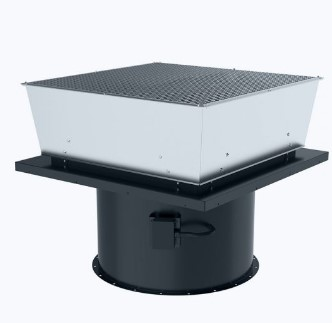 Axial roof fan vertical outlet