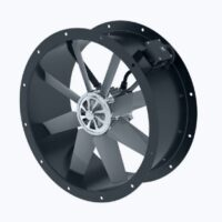Axial duct fan with external rotor