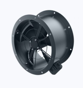 Axial duct fan with EC brushless motor