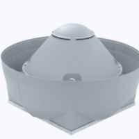 Centrifugal ATEX roof fan vertical outlet