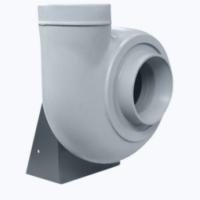Plastic centrifugal fan with forward curved blades
