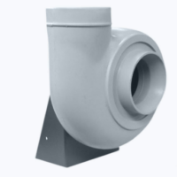 Plastic centrifugal ATEX fan with forward curved blades