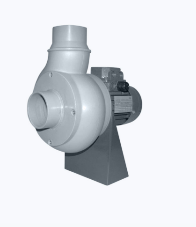 Plastic centrifugal fan with straight blades