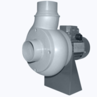 Plastic centrifugal ATEX fan with straight blades