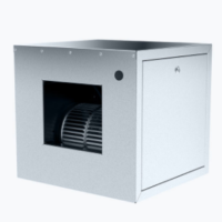 Centrifugal box fan with forward curved blades