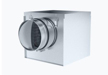 Inline fan insulated, silent box