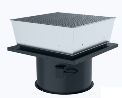 Axial smoke and heat exhaust roof fan