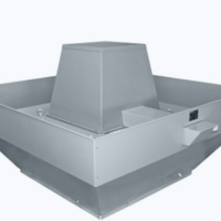Centrifugal smoke and heat exhaust roof fan vertical outlet
