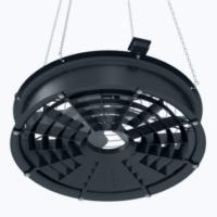 Axial fan for recirculation
